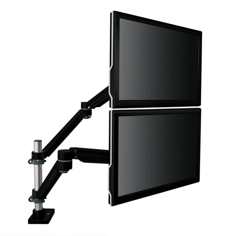 MA260MB Easy-Adjust Dual Monitor Arm, Black - 1HomeShop.sg