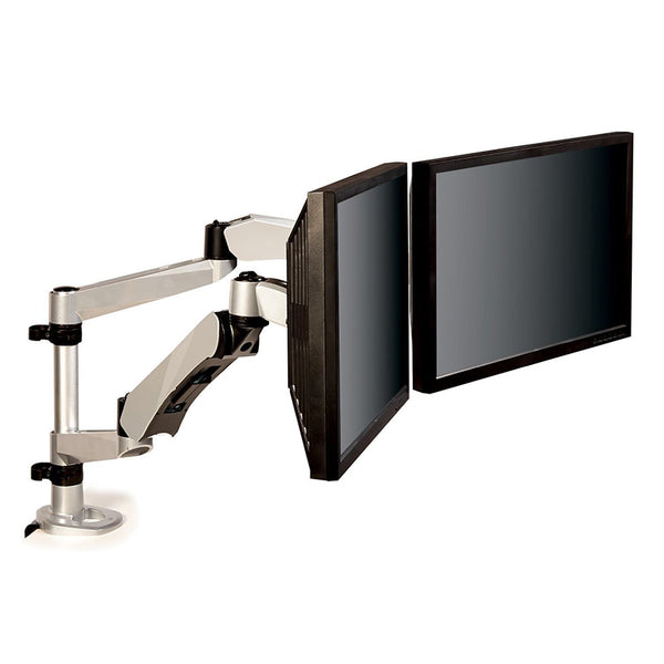 MA265S Easy-Adjust Dual Monitor Arm, Silver - 1HomeShop.sg