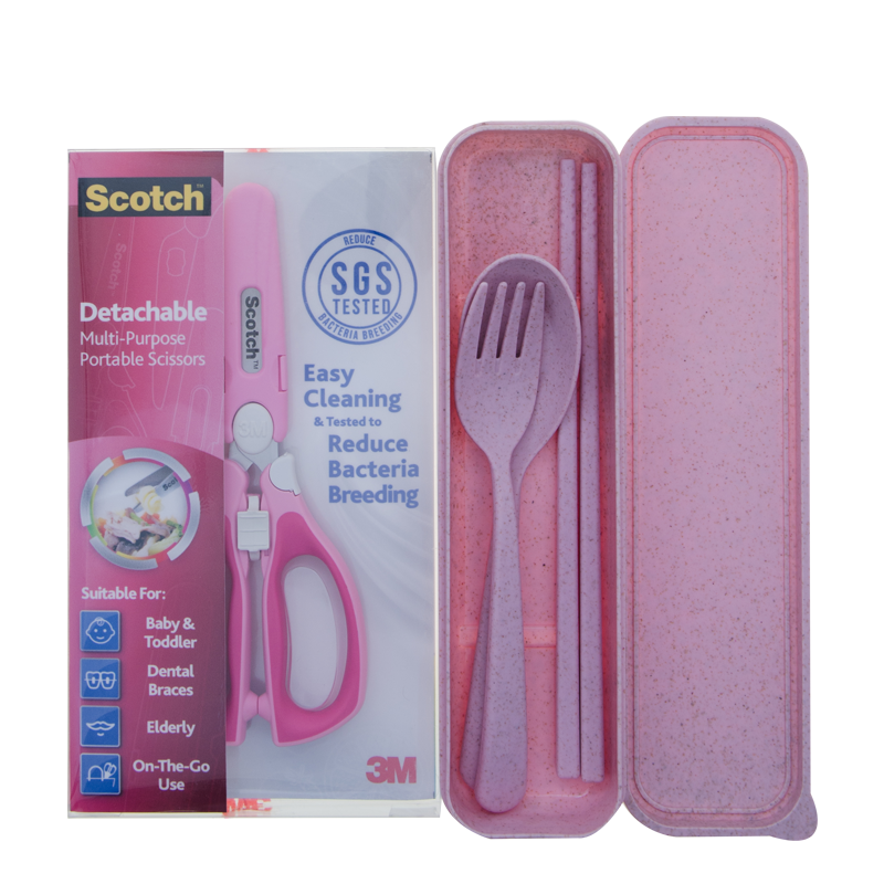 Scotch® PS-DABP CSET VP Detachable Portable Scissors with Cutlery Bundle - 1HomeShop.sg