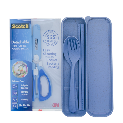 Scotch® PS-DAB CSET VP Detachable Portable Scissors with Cutlery Bundle - 1HomeShop.sg