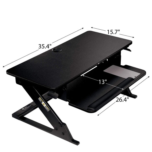SD60B Precision™ Standing Desk with Accessories, Black - 1HomeShop.sg