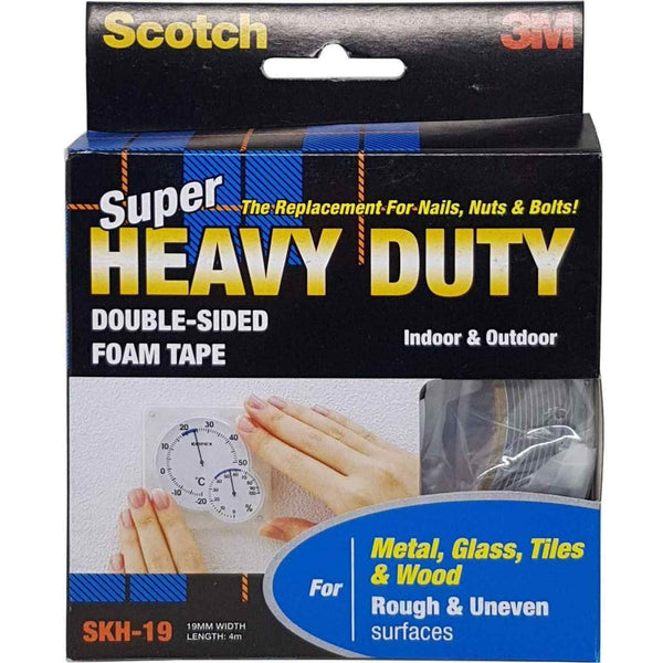 Scotch® SKH19 Heavy Duty Rough and Uneven Surfaces Mounting Tape Grey 19MMx4M - 1HomeShop.sg