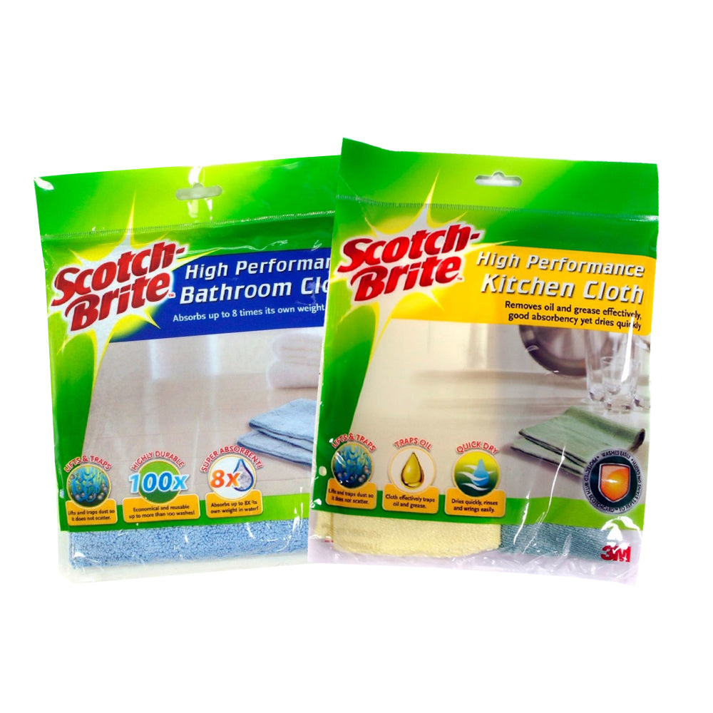 Scotch-Brite® T109CT102 Kitchen & Bathroom Cloth Bundle Set - 1HomeShop.sg