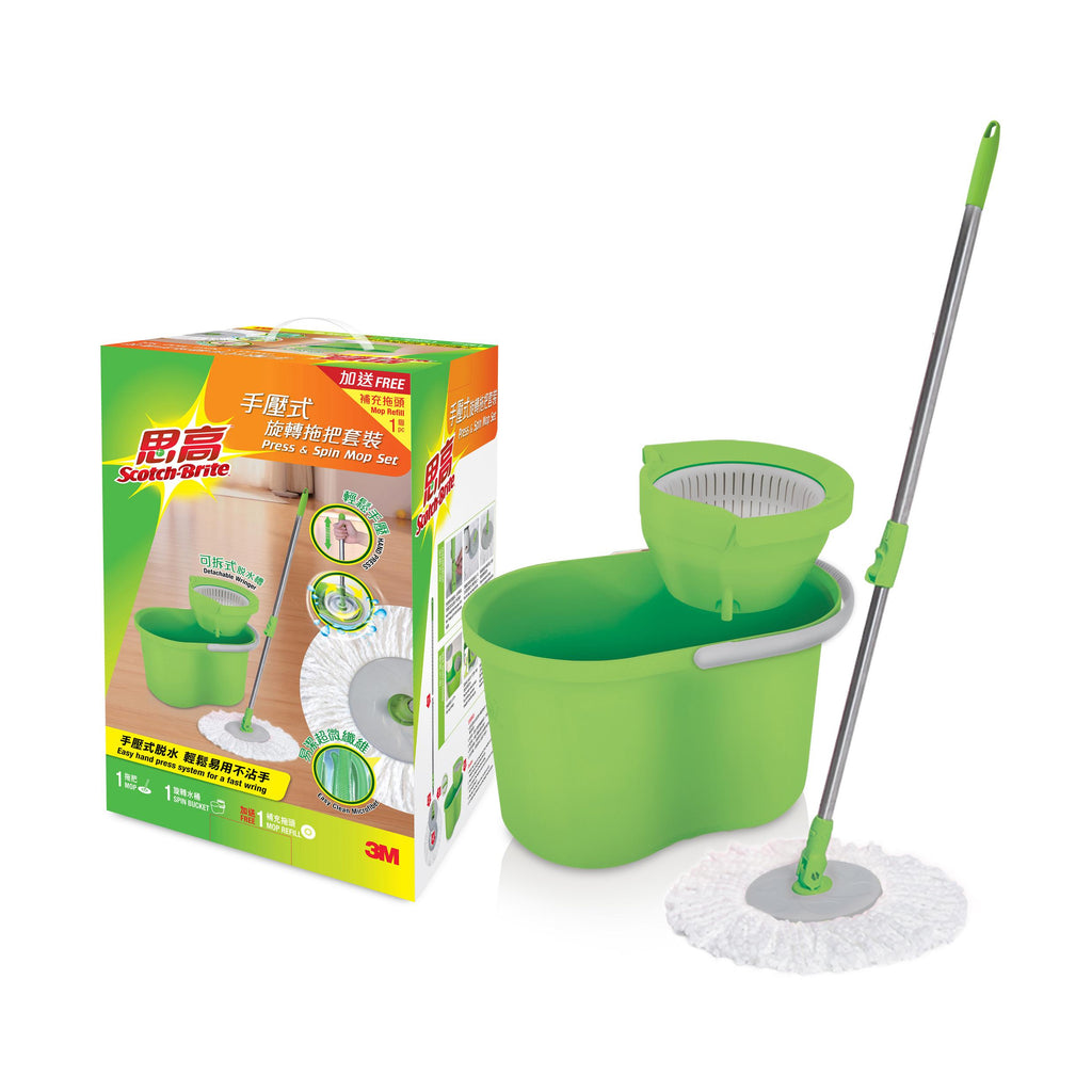 T4 Scotch-Brite® Press & Spin Mop Set