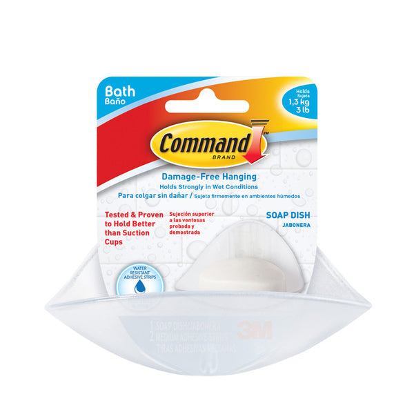 Command™ BATH14-ES Soap Dish with Water-Resistant Strips - 1HomeShop.sg