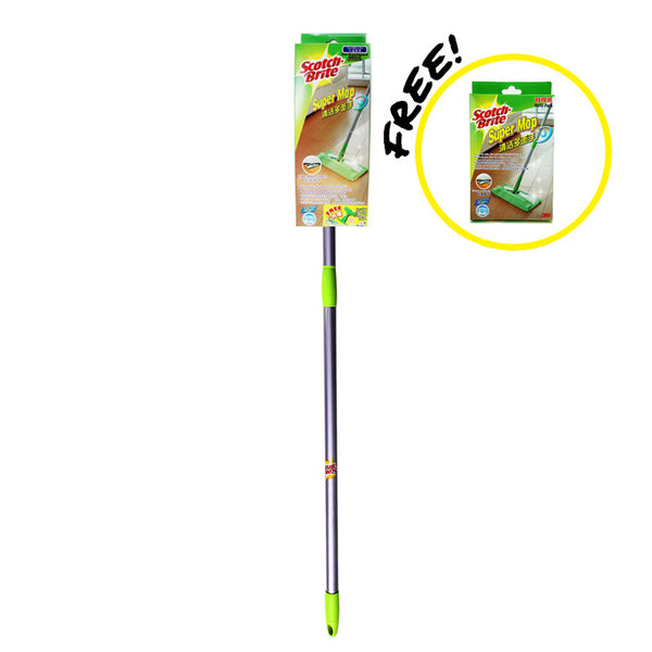 Scotch-Brite® F1-VP Super Mop w Free Extra Microfibre Mop Refill - 1HomeShop.sg