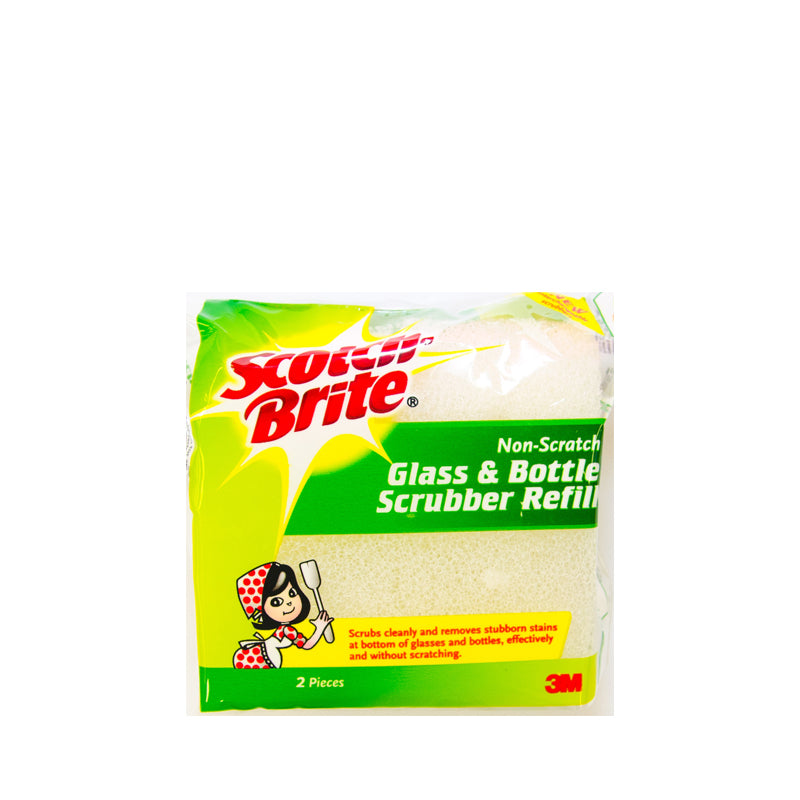 Scotch-Brite® GBSR, Glass and Bottle Scrubber Refill 2pc - 1HomeShop.sg