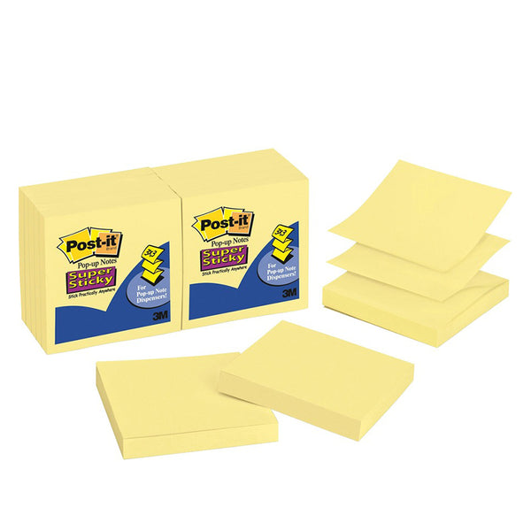 "Post-it® R330-12SSCY Canary Yellow Super Sticky Pop-Up Notes, 3x3"" - 1HomeShop.sg"