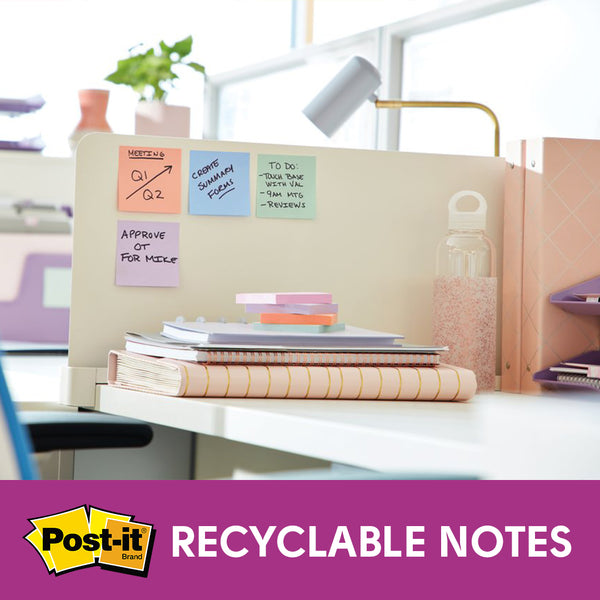 "Post-it® 654-5SSNRP Super Sticky Recycled Notes, 3x3"" - 1HomeShop.sg"