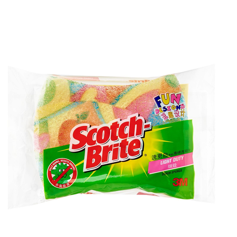 Scotch-Brite® 7215U Fun Design Anti-Bacterial Scrub Sponge - 1HomeShop.sg