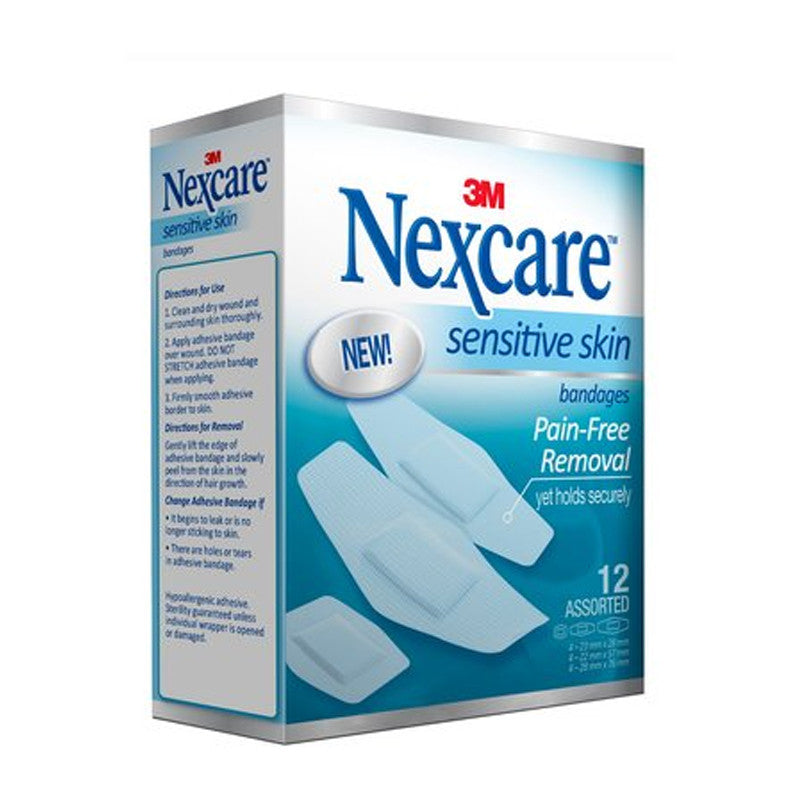 Nexcare™ SSB-12 Sensitive Skin Bandages Assorted 12s - 1HomeShop.sg