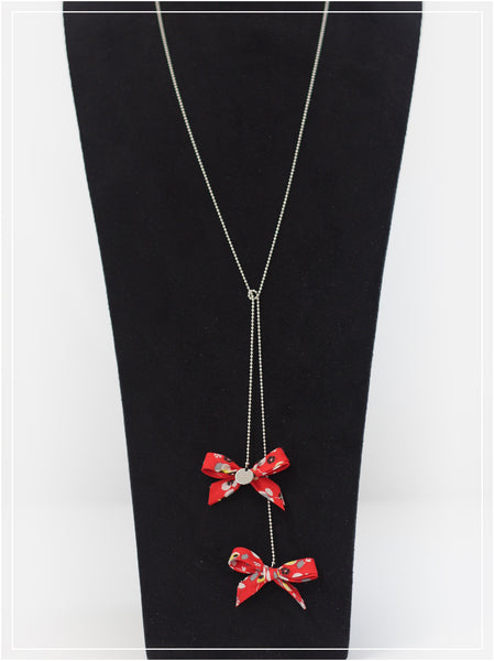 Collier noeuds liberty rouge
