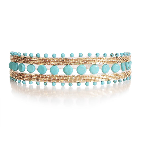 Bandeau cheveux Hector turquoises 2