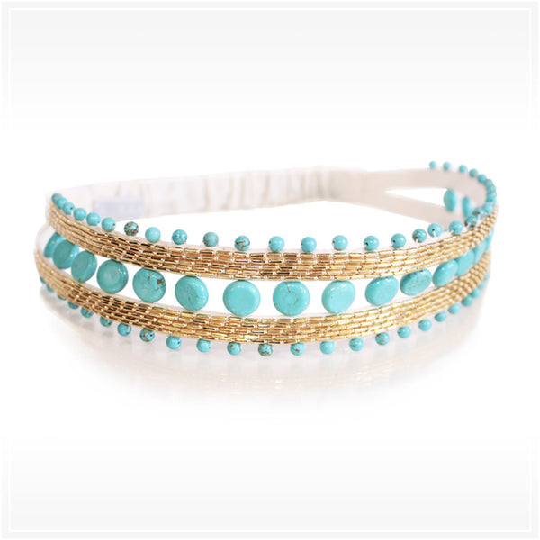 Bandeau cheveux Hector turquoises