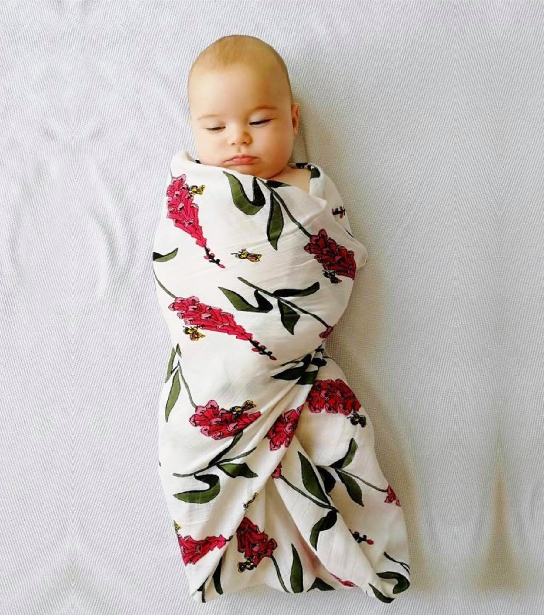 Swaddle Cloth, Foxglove Print