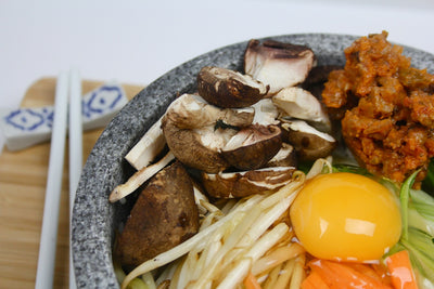 BIBIMBAP (KOREAN MIXED RICE WITH MEAT & ASSORTED VEGETABLES)