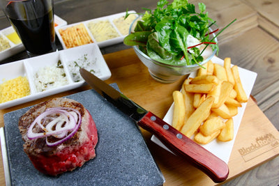 PREMIUM FILLET STEAK, CHIPS & SALAD