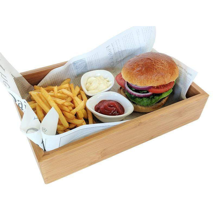 Black Rock Grill Bamboo food presentation crate box - Case of 20