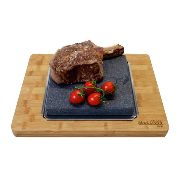 Black Rock Grill Black Rock Grill Big Sizzling Steak Stones Platter Set