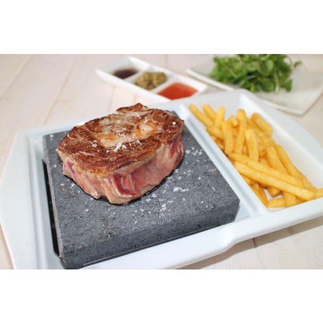 Black Rock Grill Black Rock Grill Steak Stone plate set with side area