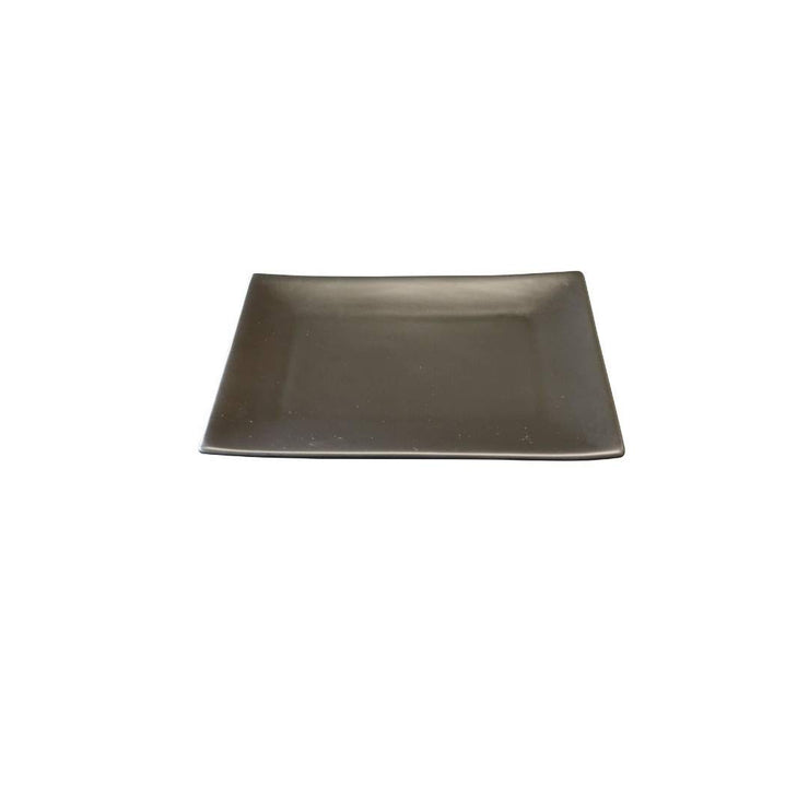 Black Rock Grill GP-13MB Rectangle Matt Black Porcelain Side Plate- Case of 6