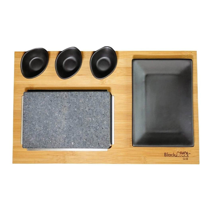 Black Rock Grill GP-7- Bamboo Boards for Steak Stone Cooking Set