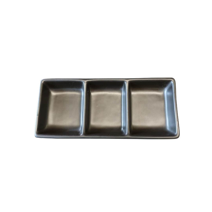 Black Rock Grill GP-8MB Matt Black 3 Compartment Dipping Pot - Case of 8