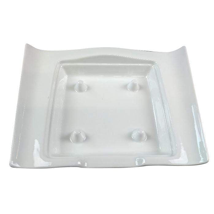 Black Rock Grill porcelain platter GP-15W White Porcelain Wave Platter - Case of 12