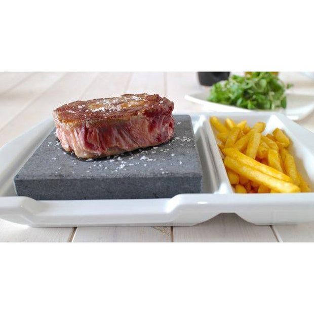 Black Rock Grill Steak Stone plate set with side
