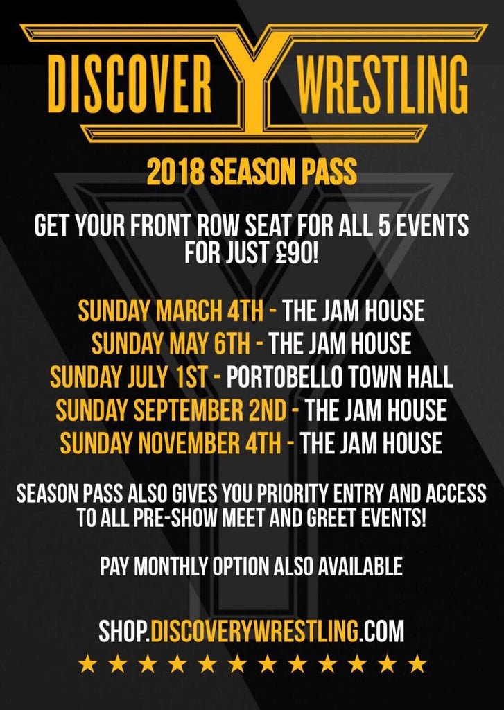 Discovery Wrestling Season Pass - 3 x Monthly Plan Option- (October Payment)