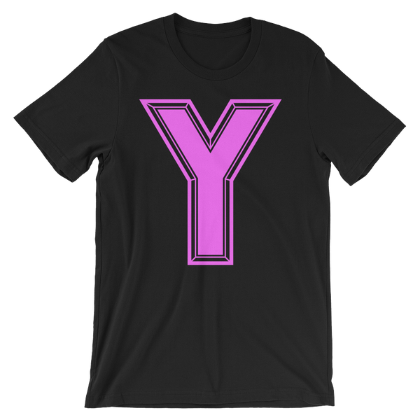 Pink Y Short-Sleeve Unisex T-Shirt
