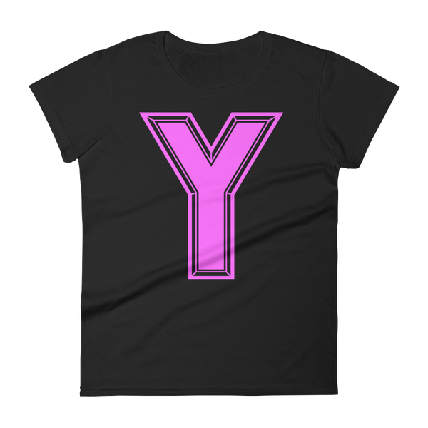 Y Logo Pink Women's short sleeve t-shirt