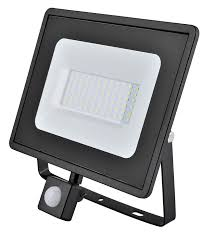Eveready LED Compact Robust 10W Floodlight with PIR 4000K 900lm IP65 - Pod Lamps