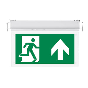 Recessed 2W 3-Hr Maintained Emergency Exit Light IP20 - Pod Lamps