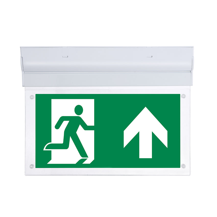 Surface Mount 2W 3-Hr Maintained Emergency Exit Light IP20 - Pod Lamps