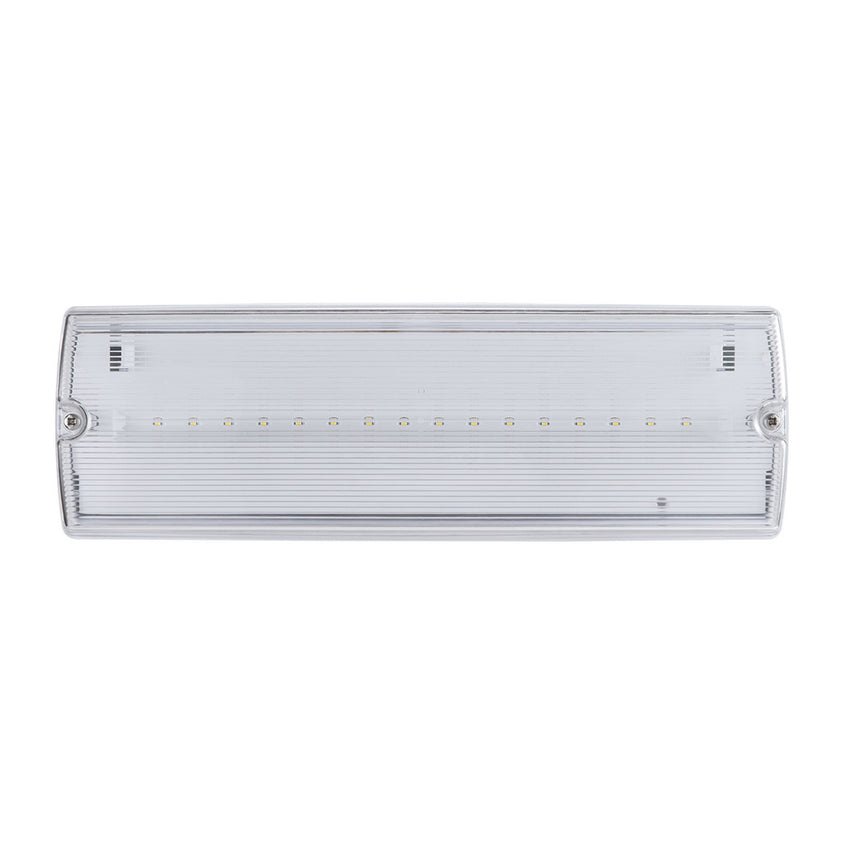 3W Emergency Exit Bulkhead Dual Non/ Maintained External IP65 - Pod Lamps