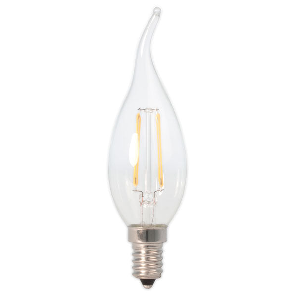 Bent Tip Candle Filament LED Light Bulb 2.4W E14 2700K - Pod Lamps