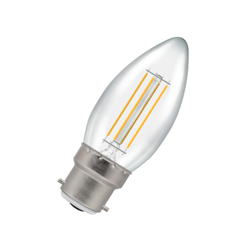 Dimmable LED Candle Filament Light Bulb 4.5W B22 2700K - Pod Lamps