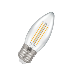 Candle Filament LED Light Bulb 4W E27 2700K - Pod Lamps
