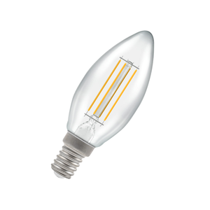 Dimmable LED Candle Filament Light Bulb 5W E14 2700K - Pod Lamps