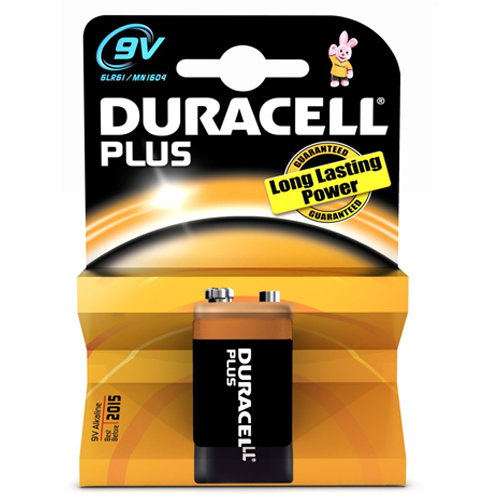Duracell Plus 9V Battery - Pod Lamps
