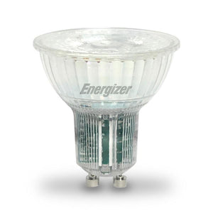 Energizer GU10 5W LED 4000K Cool White Energy Saving all Glass Spotlight - Pod Lamps