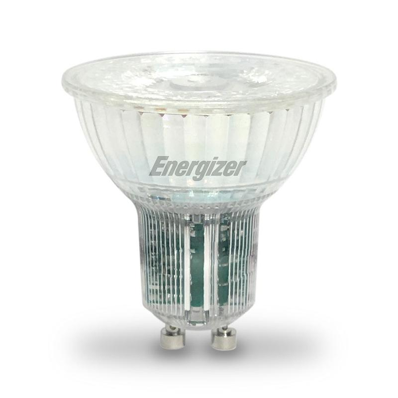 Energizer GU10 5.5W LED 3000K White Dimmable all Glass Spotlight - Pod Lamps