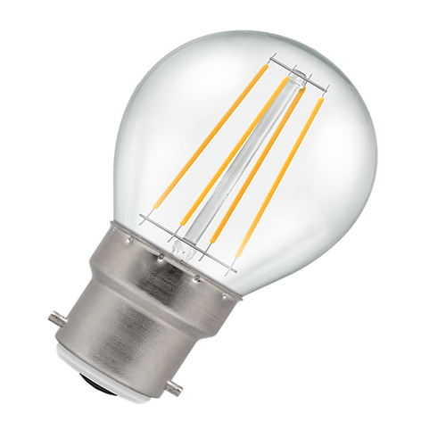 Golf Ball Filament LED Light Bulb 4W B22 2700K - Pod Lamps