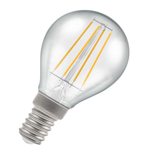 Dimmable Golf Ball Filament LED Light Bulb 3.5W E14 2700K - Pod Lamps