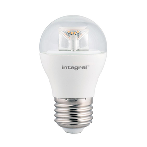 Integral LED Clear Golf Ball 6.5W E27 Dimmable 2700K Warm White - Pod Lamps