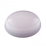 15W LED Round White Domed Bulkhead Emergency Microwave 3-year Warranty - Pod Lamps