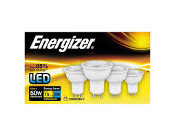 Energizer GU10 5.2W LED 4000K Cool White Energy Saving Dimmable Spotlight (Pack of 4) - Pod Lamps