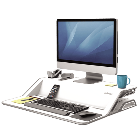 Fellows Lotus™ Sit-Stand Workstation - Chair Dinkum