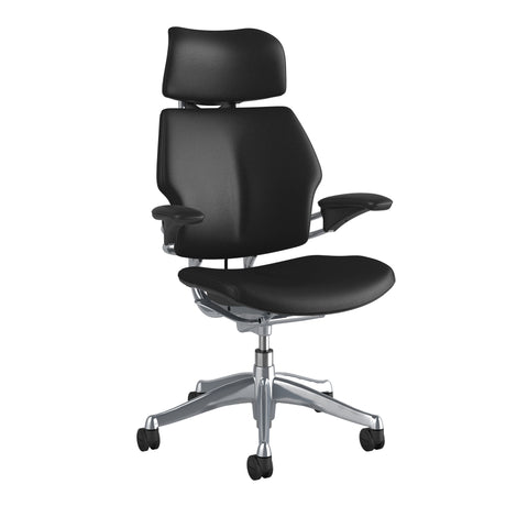 Image of Humanscale Freedom Headrest Chair in Leather - Chair Dinkum